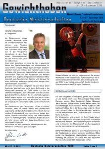 thumbnail of Newsletter Nr. 27 der Obrigheimer Gewichtheber – DM 2019